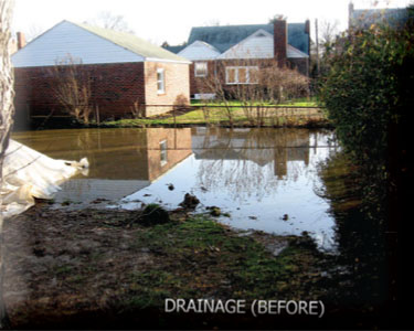 Drainage Problems Before