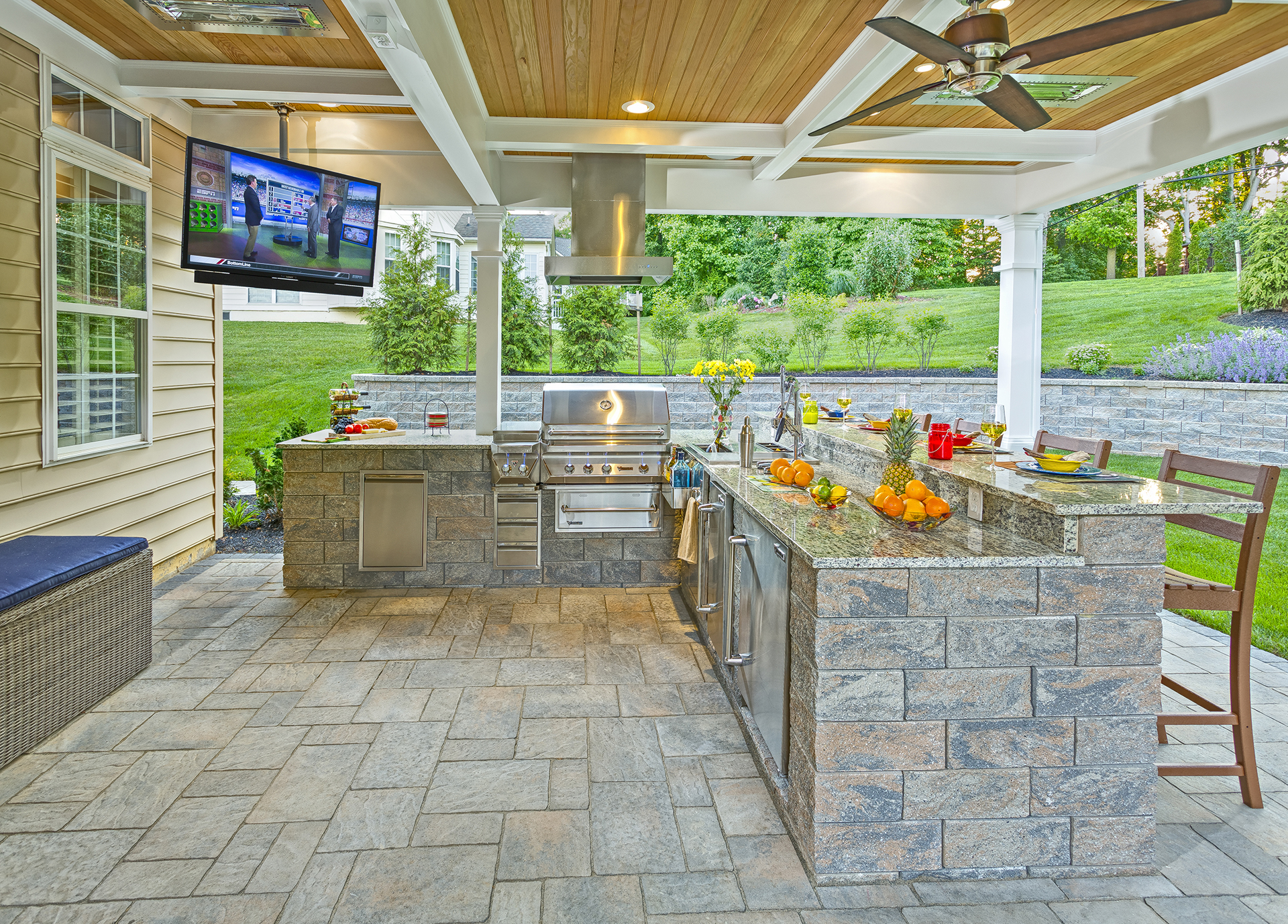Marcelo - Wilmington, DE 19808 - Outdoor Kitchen by DiSabatino Landscaping & Esposito Masonry