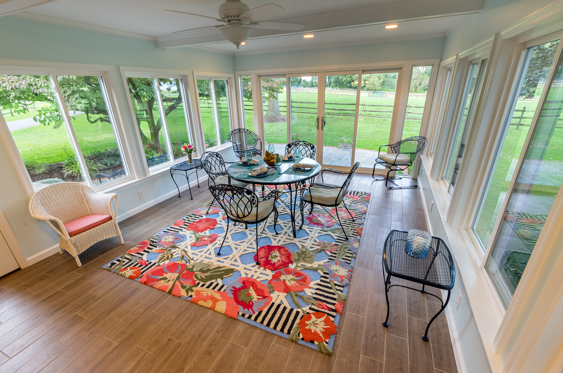 A Sunroom is another wonderful way to enjoy the outdoors
