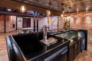 Custom Basement Renovations - Bar Area (Chahalis)2