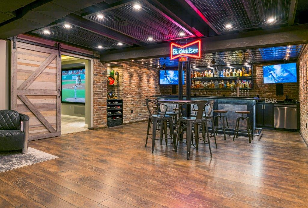Custom Basement Renovations - Bar Area (Chahalis)3