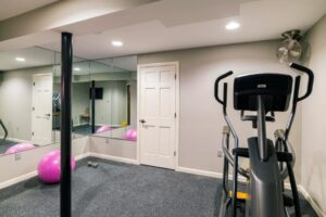 Custom Basement Renovations - Gym (Chahalis)