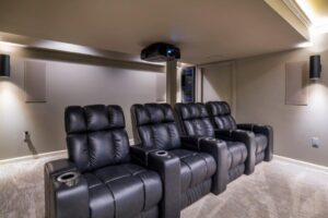 Custom Basement Renovations -Movie Area (Chahalis)2